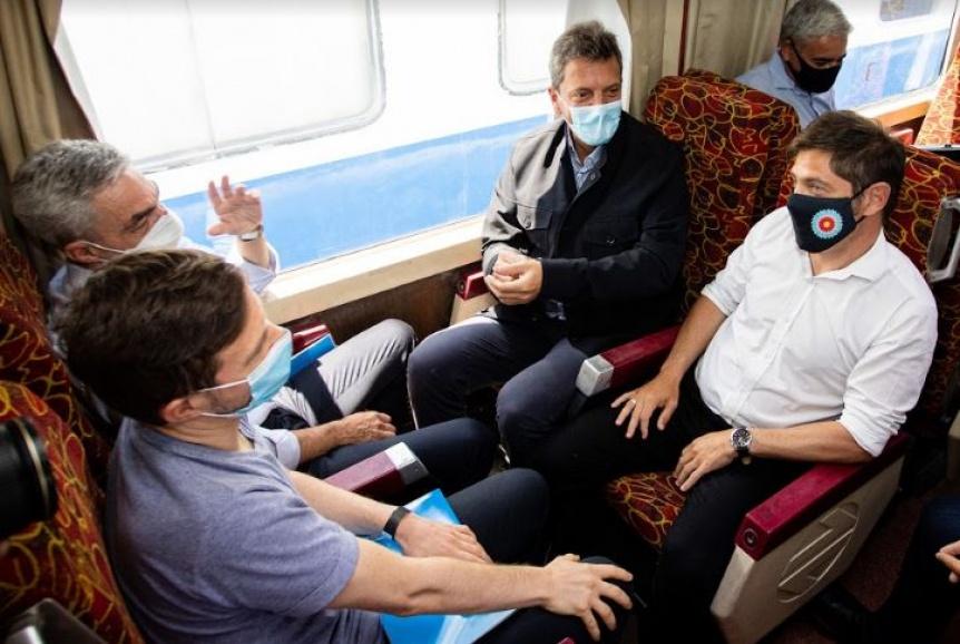Kicillof, Massa y Meoni inauguraron el retorno del tren de pasajeros que llega hasta Pinamar