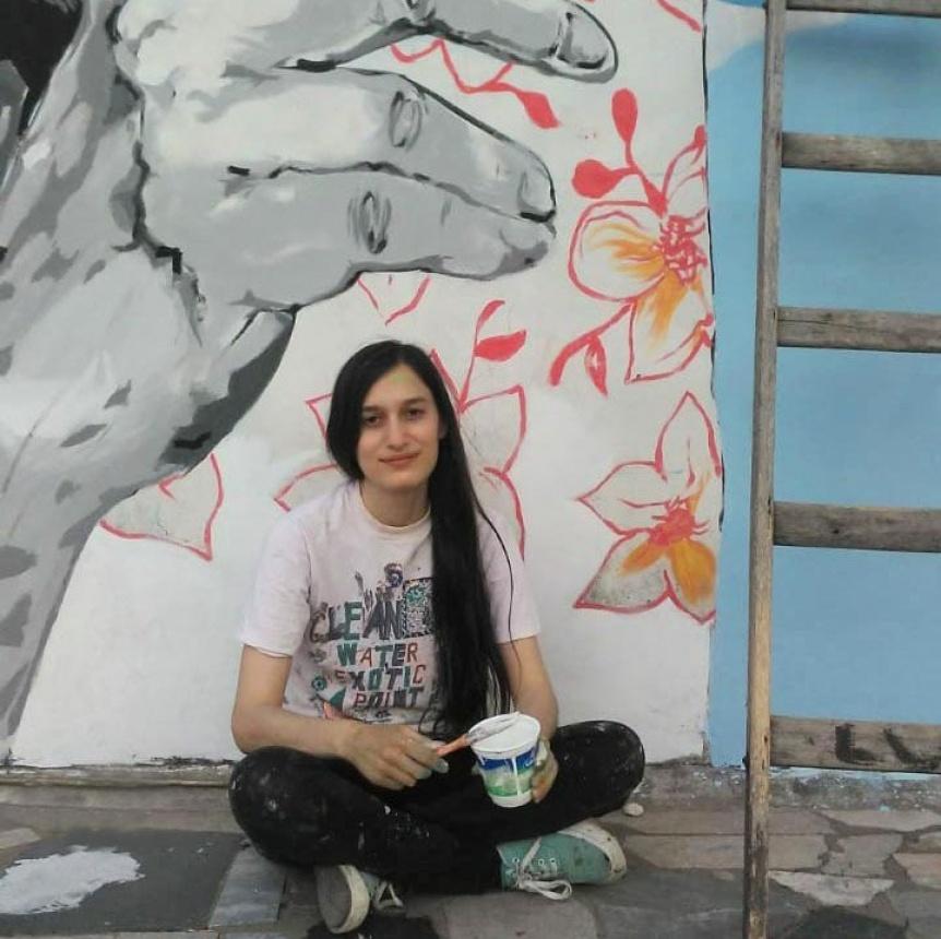 Muralista quilmeña fue seleccionada en el Concurso Federal de Muralismo